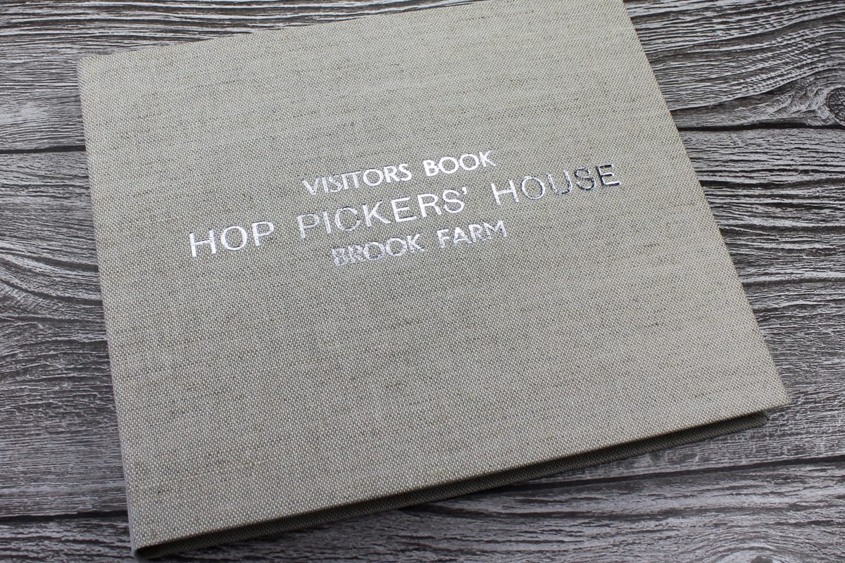 Personalised Linen Visitor Book