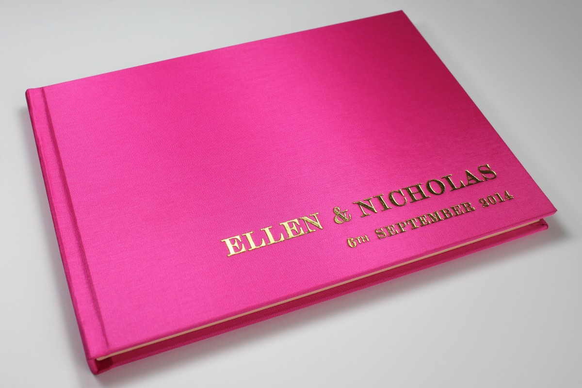 Pink wedding guest books