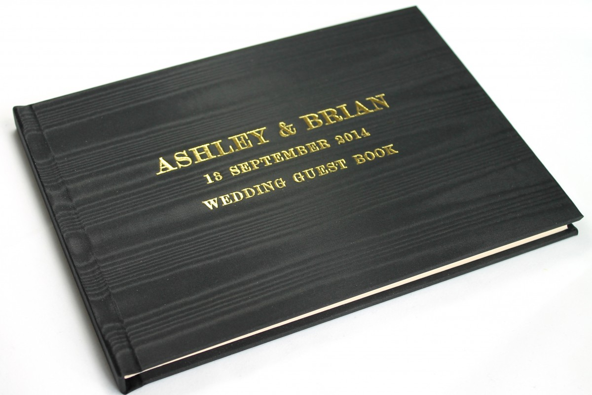 Satin Taffeta Wedding Guest Books