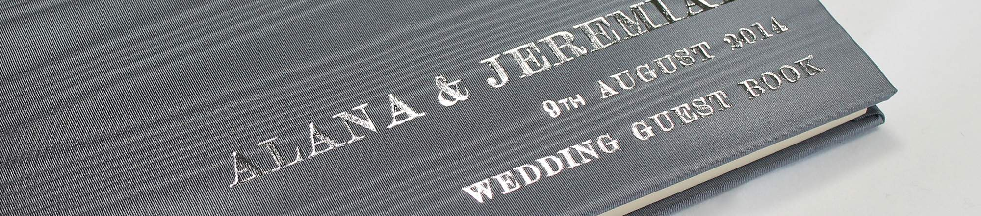 Luxury Personalised Wedding Guest Book